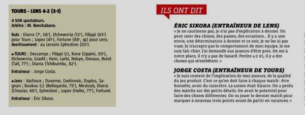 2017 Ligue 2 J37 TOURS LENS 4-2, le 04/05/2018