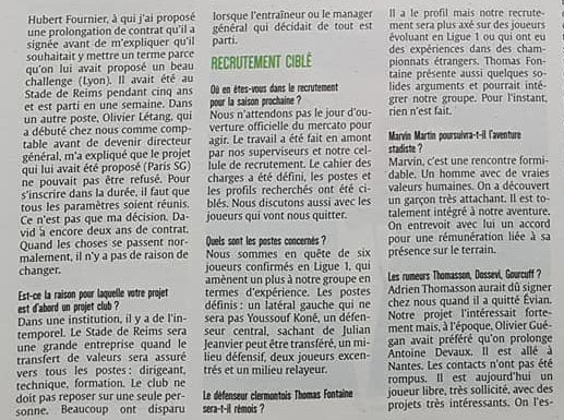 2017 REIMS : INTERVIEW CAILLOT, le 13/05/2018