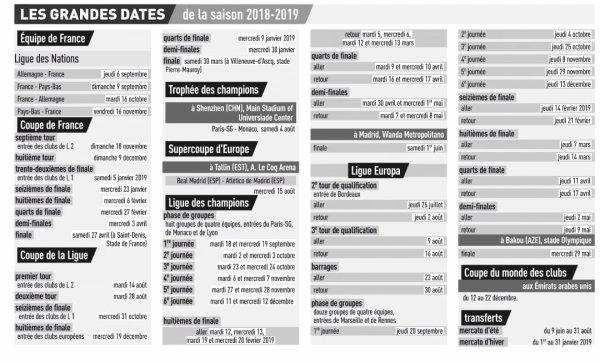 2018 : LES DATES A COCHER, le 30/05/2018
