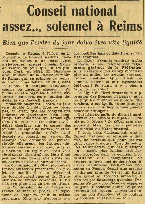 1938 D2  CONSEIL NATIONAL ne décide RIEN, le 15/04/1939