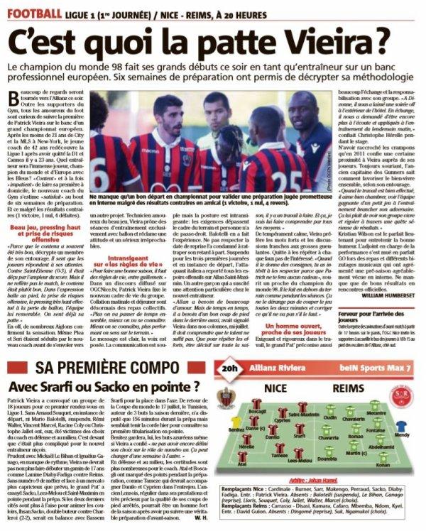 2018 Ligue 1 J01 NICE REIMS, L'avant match, le 10/08/2018