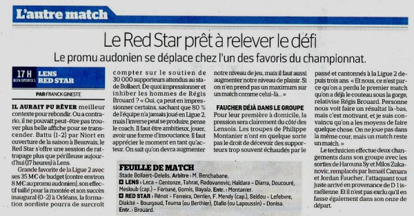 2018 LIGUE 2 J02 LENS RED STAR 1-0, le 04/08/2018