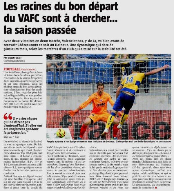 2018 Ligue J03 VALENCIENNES CHÂTEAUROUX 1-1, le 10/08/2018