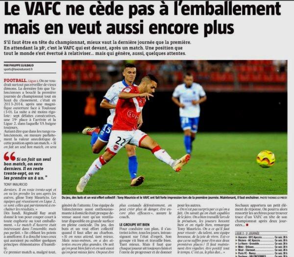 2018 Ligue 2 J02 VALENCIENNES SOCHAUX 0-1, le 03/08/2018
