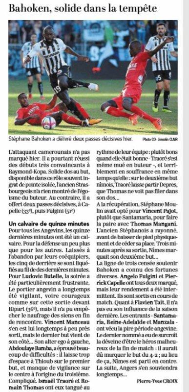2018 Ligue 1 J01 ANGERS NÎMES 3-4, le 11/08/2018
