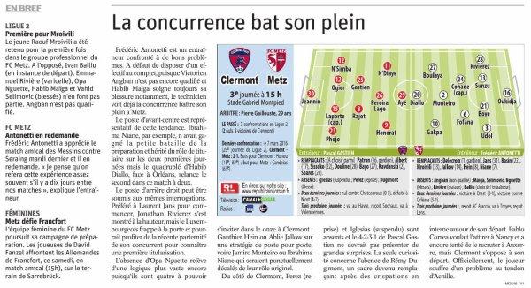 2018 Ligue 2 J03 CLERMONT METZ 2-3, le 11/08/2018