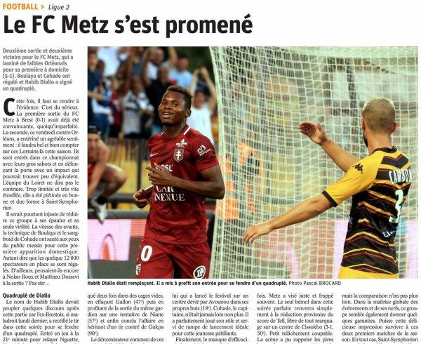 2018 Ligue 2 J02 METZ ORLEANS 5-1, le 03/08/2018