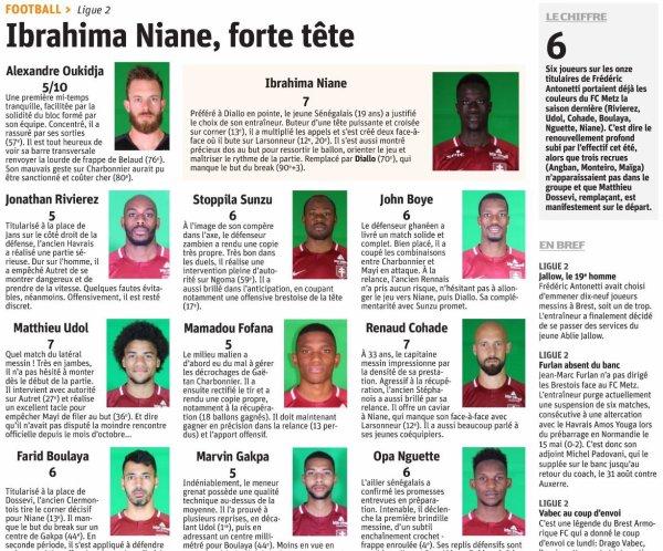 2018 Ligue 2 J01 BREST METZ 0-1, le 30/07/2018