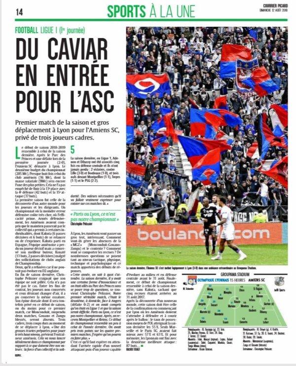 2018 Ligue 1 J01 LYON AMIENS 2-0, le 12/08/2018