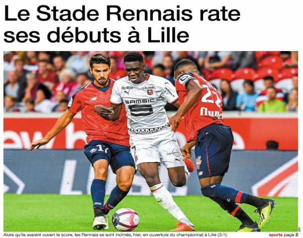 2018 Ligue 1 J01 LILLE RENNES 3-1, le 11/08/2018