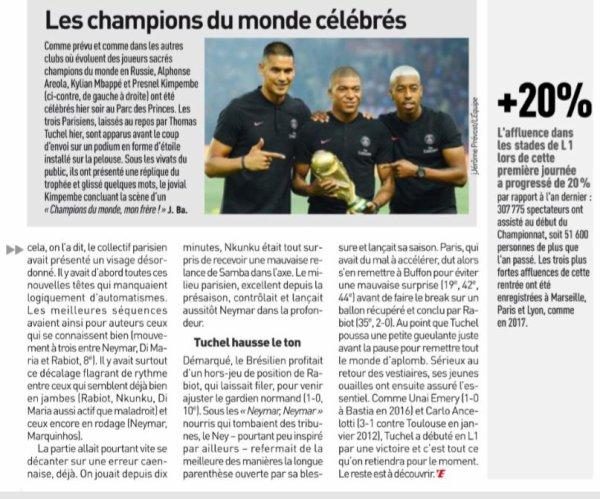 2018 Ligue 1 J01 PSG CAEN 3-0, le 12/08/2018