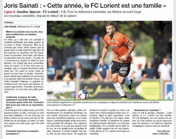 2018 Ligue 2 J03 GAZELEC LORIENT 1-3, le 10/08/2018