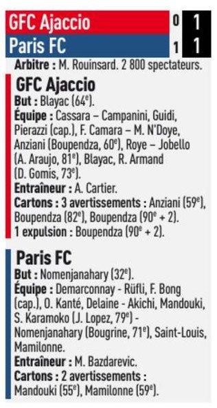 2018 Ligue 2 J01 GAZELEC PARIS FC 1-1, le 27/07/2018