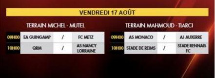 2018 U17 TOURNOI MAHMOUD TIARCY : Reims sous la MOYENNE, du 16 au 18/08/2018