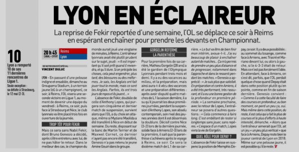 2018 Ligue 1 J02 REIMS LYON, l'avant match, le 16/08/2018