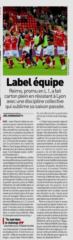 2018 Ligue 1 J02 REIMS LYON 1-0, le 17/08/2018