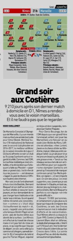 2018 Ligue 1 J02 NÎMES MARSEILLE,l'avant match suite (2), le 19/08/2018