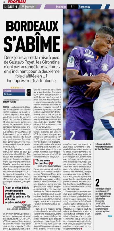 2018 Ligue 1 J02 TOULOUSE BORDEAUX 2-1, le 19/08/2018