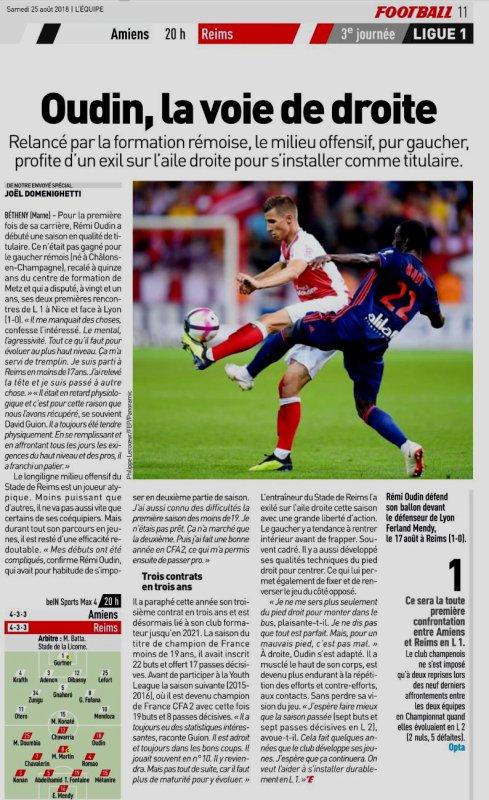 2018 Ligue 1 J03 AMIENS REIMS , l'avant match, le 24/08/2018