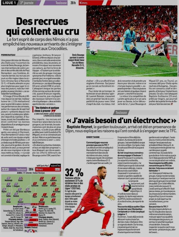 2018 Ligue 1 J03 TOULOUSE NÎMES, l'avant match, le 25/08/2018