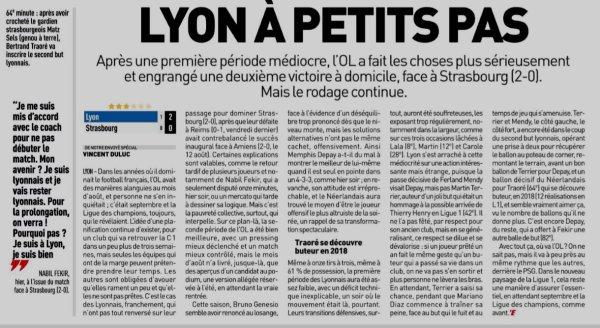 2018 Ligue 1 J03 LYON STRASBOURG 2-0, le 24/08/2018