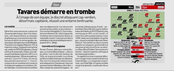 2018 Ligue 1  J03 NICE DIJON 0-4 , le 25/08/2018