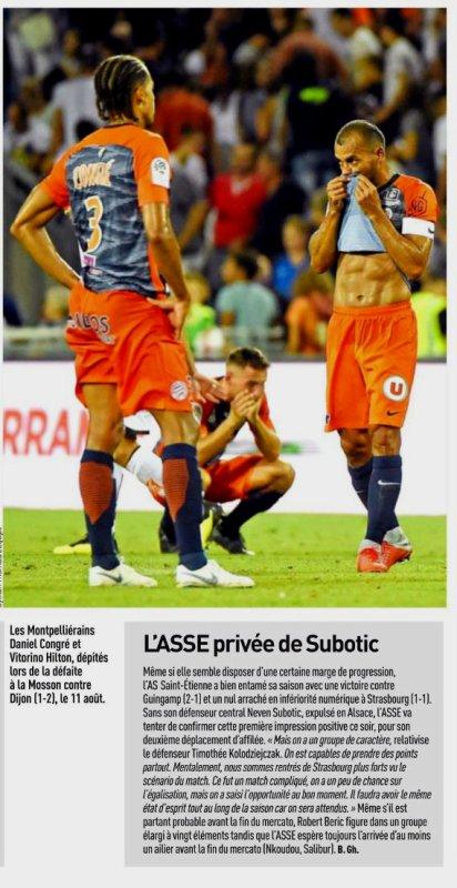 2018 Ligue 1 J03 MONTPELLIER SAINT-ETIENNE 0-0, le 25/08/2018