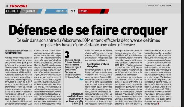 2018 Ligue 1 J03 MARSEILLE RENNES 2-2, le 26/08/2018