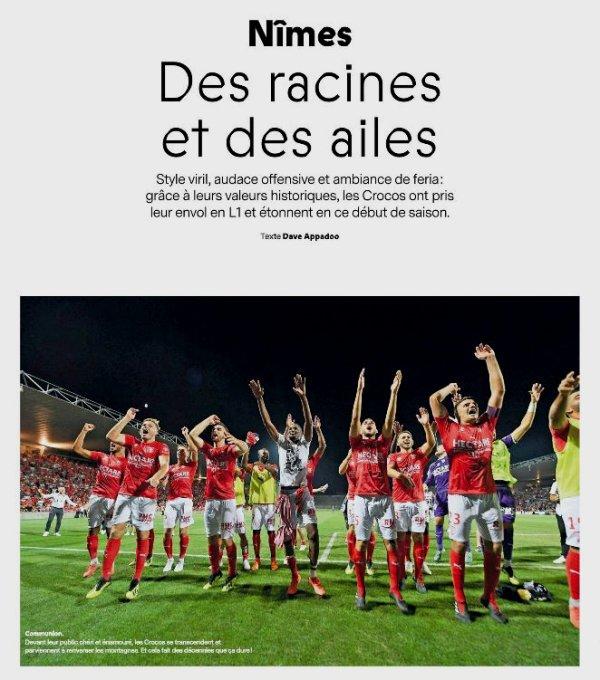 2018 FRANCE FOOTBALL : Dossier NÎMES OLYMPIQUE, le 28/08/2018