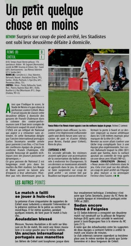 2018 NATIONAL 2 J04 REIMS CRETEIL 0-1, le 01/09/2018