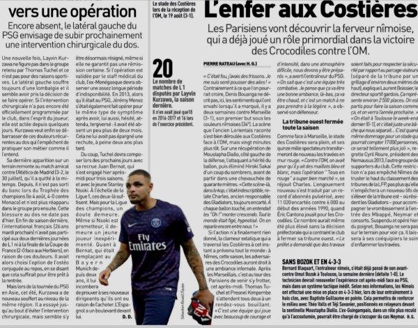 2018 Ligue 1 J04 NÎMES PSG, l'avant match, le 01/09/2018