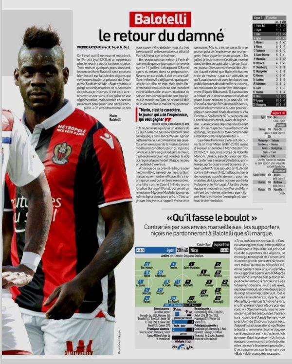 20148 Ligue 1 J04 LYON NICE 0-1, le 31/08/2018