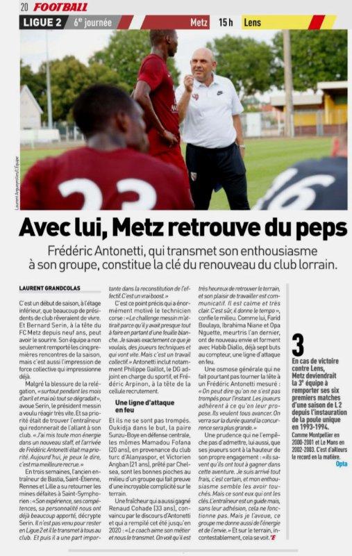 2018 Ligue 2 J06 METZ LENS 2-0, le 01/09/2018
