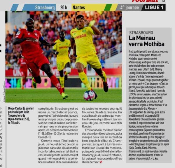2018 Ligue 1 J04 STRASBOURG NANTES 2-3, le 01/09/2018