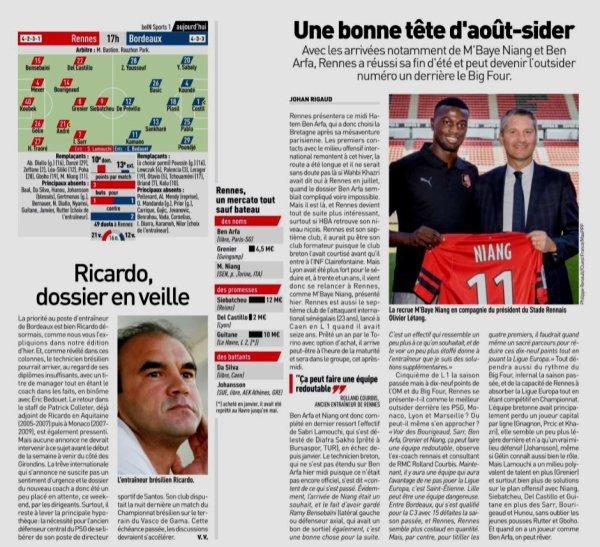 2018 Ligue 1 J04 RENNES BORDEAUX 2-0 , le 02/09/2018