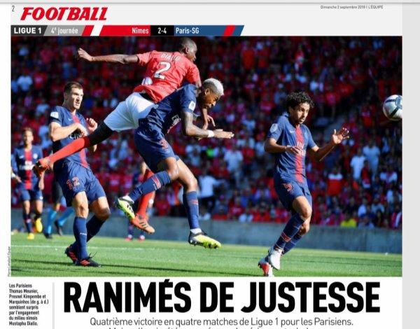 2018 Ligue 1 J04 NÎMES PSG 2-4, le 01/09/2018