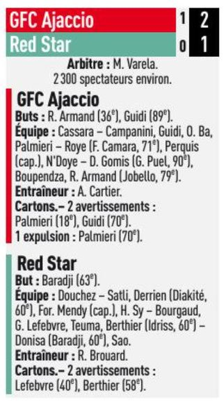 2018 Ligue 2 J06 GAZELEC RED STAR 2-1, le 31/08/2018