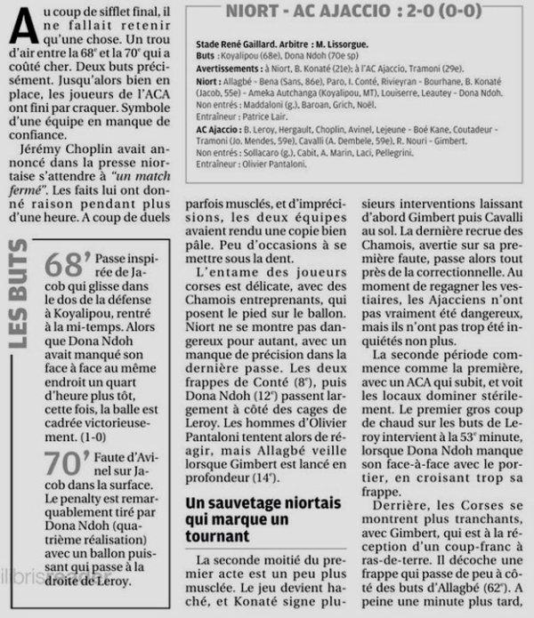 2018 Ligue 2 J06 NIORT AJACCIO 2-0, le 31/08/2018