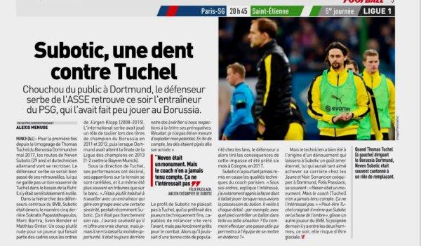 2018 Ligue 1 J05 PSG SAINT-ETIENNE 4-0, le 14/09/2018