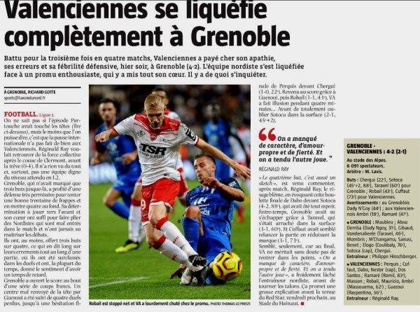 2018 Ligue 2 J07 GRENOBLE VALENCIENNES 4-2, le 14/09/2018