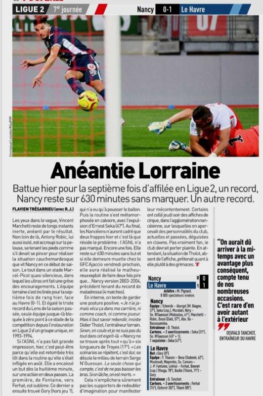 2018 Ligue 2 J07 NANCY LE HAVRE 0-1, le 14/09/2018