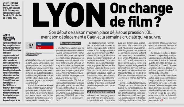2018 Ligue 1 J05 CAEN LYON 2-2, le 15/09/2018