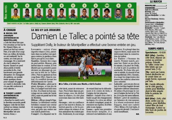 2018 Ligue 1 J05 MONTPELLIER STRASBOURG 1-1, le 15/09/2018