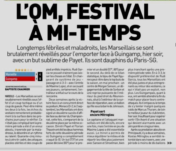 2018 Ligue 1 J05 MARSEILLE GUINGAMP 4-0 , le 16/09/2018