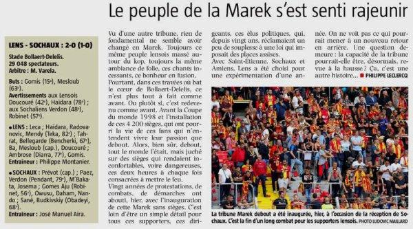 2018 Ligue 2 LENS SOCHAUX 2-0, le 15/092018
