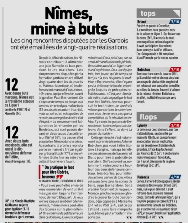 2018 Ligue 1 J05 BORDEAUX NÎMES 3-3, le 16/09/2018