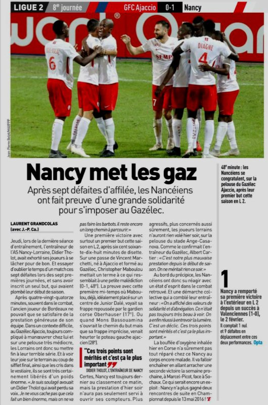 2018 Ligue 2 J08 GAZELEC NANCY, le 22/09/2018