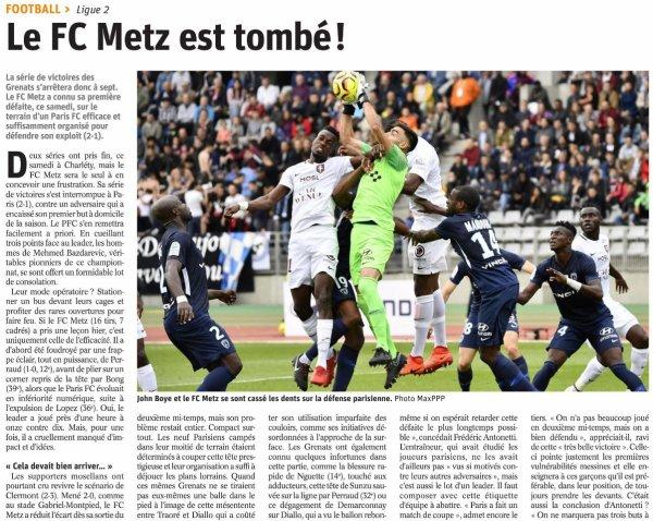 2018 Ligue 2 J08 PARIS FC METZ 2-1, le 22/09/2018