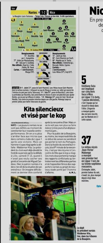 2018 Ligue 1 J07 NANTES NICE 1-2, le 25/09/2018