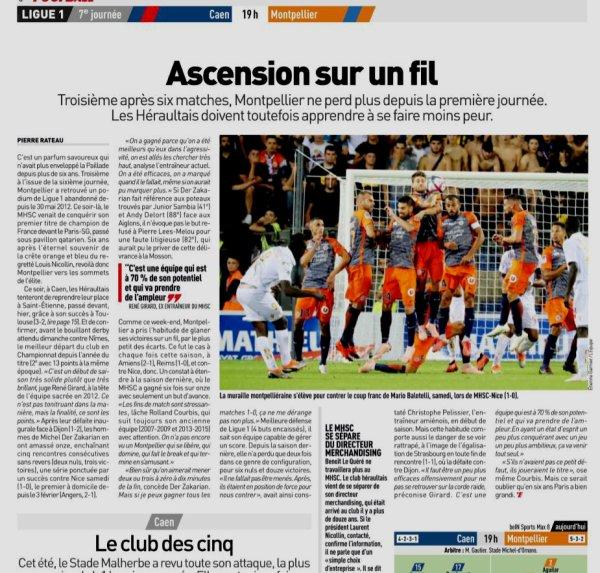 2018 Ligue 1 J07 CAEN MONTPELLIER 2-2 , le 26/09/2018